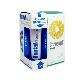 Citrosept Organic, krople, 50 ml + Citrosept Dental, żel, 15 g - zdjęcie produktu
