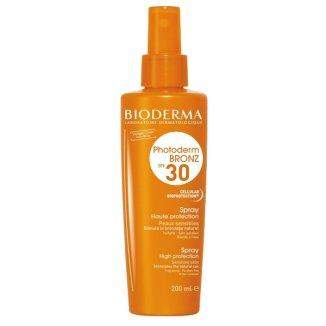 Bioderma Photoderm BRONZ, spray ochronny przyspieszający opalanie SPF30, 200 ml - zdjęcie produktu