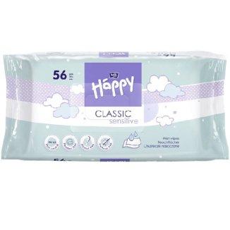 Bella Baby Happy, chusteczki nawilżane, aloes, Classic Sensitive, 56 sztuk - zdjęcie produktu