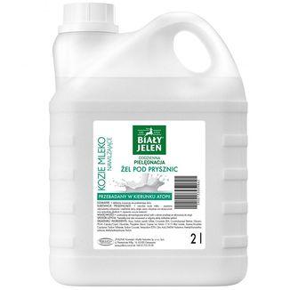 Biały Jeleń, żel pod prysznic, kozie mleko, zapas, 2 L - zdjęcie produktu