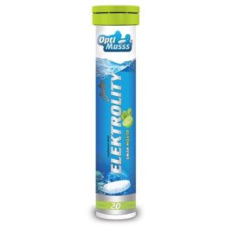 Elektrolity OptiMusss, smak mojito, 20 tabletek - zdjęcie produktu