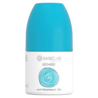 BasicLab Anti Perspiris, antyperspirant 72h, roll-on, 60 ml - zdjęcie produktu
