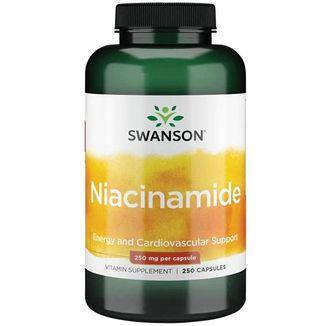 Swanson Niacinamide, niacyna 250 mg, 250 kapsułek - zdjęcie produktu