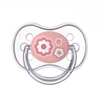 Canpol, smoczek silikonowy, anatomiczny, Newborn Baby, rozmiar C, po 18 miesiącu, różowy, 1 sztuka - zdjęcie produktu
