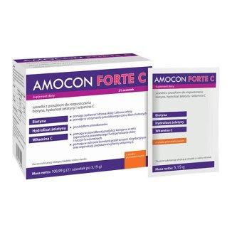 Amocon Forte C, smak pomarańczowy, 5,19 g x 21 saszetek - zdjęcie produktu