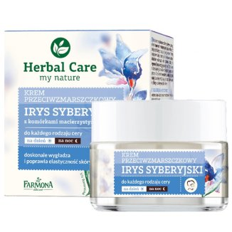Farmona Herbal Care, krem przeciwzmarszczkowy do twarzy, Irys Syberyjski, na dzień i na noc, 50 ml - zdjęcie produktu