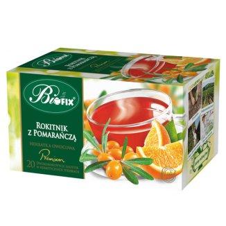 Bi Fix, Premium, Rokitnik z pomarańczą, herbata owocowa, 20 saszetek - zdjęcie produktu