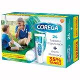 Corega, tabletki czyszczące, 24 tabletki + krem mocujący, super mocny, 40 g - miniaturka zdjęcia produktu