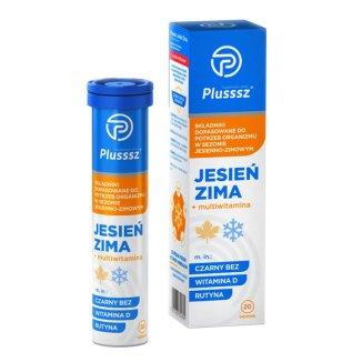 Plusssz Jesień Zima + Multiwitamina, 20 tabletek musujących - zdjęcie produktu