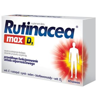 Rutinacea Max D3, 60 tabletek - zdjęcie produktu
