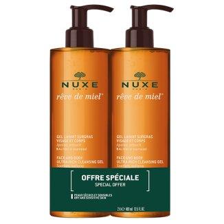 Nuxe Reve de Miel, ultrabogaty żel do mycia twarzy i ciała, 400 ml + 400 ml w prezencie - zdjęcie produktu