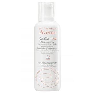 Avene XeraCalm A.D, krem uzupełniający lipidy do twarzy i ciała, skóra bardzo sucha, atopowa i swędząca, 400 ml - zdjęcie produktu