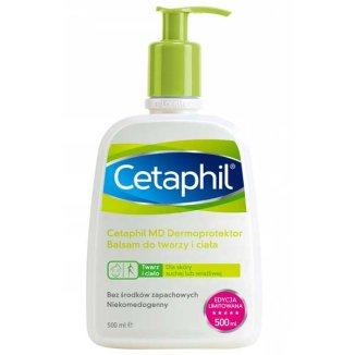 Cetaphil MD Dermoprotektor, balsam nawilżający do twarzy i ciała, skóra sucha i wrażliwa, z pompką, 500 ml - zdjęcie produktu
