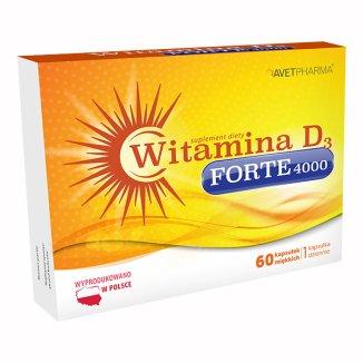AvetPharma Witamina D3 Forte 4000, 60 kapsułek - zdjęcie produktu