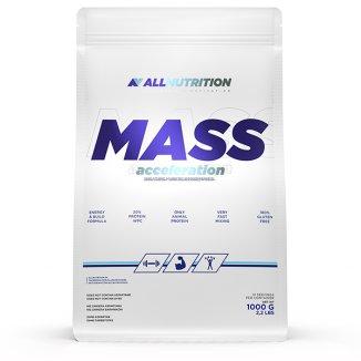 Allnutrition, Mass Acceleration, gainer, smak truskawkowo-bananowy, 1000 g - zdjęcie produktu
