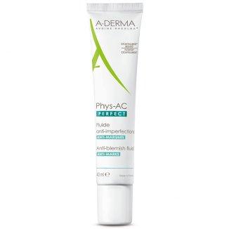 A-Derma Phys-AC Perfect, fluid przeciw niedoskonałościom, skóra dojrzała, 40 ml - zdjęcie produktu