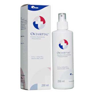 Oktaseptal (0,1 g + 2 g)/ 100 g, aerozol na skórę, 250 ml - zdjęcie produktu