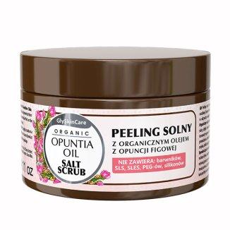 GlySkinCare Organic, peeling solny z olejem z opuncji figowej, 400 g - zdjęcie produktu