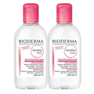 Bioderma Sensibio H2O, płyn micelarny do skóry wrażliwej, 2 x 250 ml - zdjęcie produktu