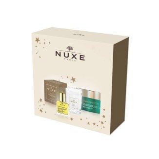 Nuxe Nuxuriance Ultra, przeciwstarzeniowy krem do twarzy na dzień, 50 ml + Huile Prodigieuse, suchy olejek, 10 ml + świeca zapachowa, 70 g w prezencie - zdjęcie produktu