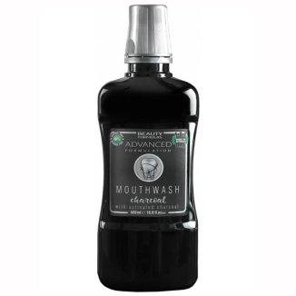 Beauty Formulas, Advanced Charcoal, płyn do płukania jamy ustnej, z aktywnym węglem, 500 ml - zdjęcie produktu