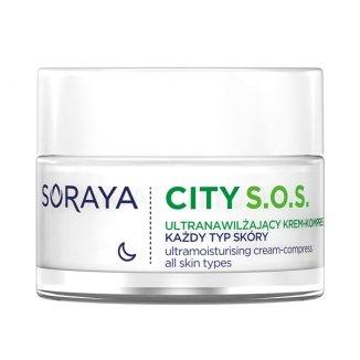 Soraya City S.O.S., krem ultranawilżający na noc, 50 ml - zdjęcie produktu
