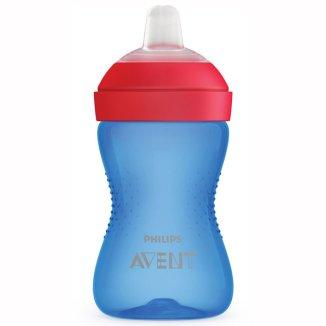 Avent, kubek z miękkim, odpornym na gryzienie ustnikiem, niebieski, od 9 miesiąca, 300 ml - zdjęcie produktu