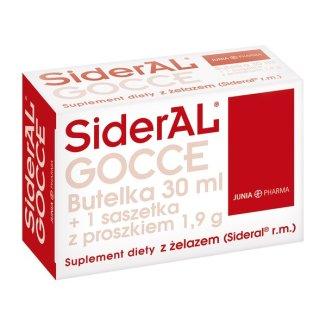 Sideral GOCCE, butelka, 30ml + proszek w saszetce 1,9g  - zdjęcie produktu