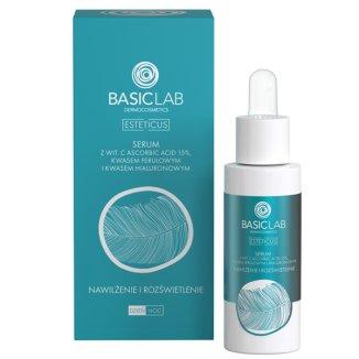 Basiclab Esteticus, kuracja przeciwzmarszczkowa do twarzy, nawilżenie i rozświetlenie, 30 ml - zdjęcie produktu