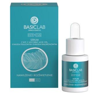 Basiclab, Esteticus, Kuracja przeciwzmarszczkowa nawilżenie i rozświetlenie, 15 ml - zdjęcie produktu