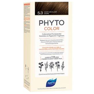 Phyto Color, farba do włosów, 5.3 jasny złoty kasztan, 50 ml - zdjęcie produktu