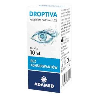 Droptiva 0,5%, nawilżające krople do oczu, 10 ml - zdjęcie produktu