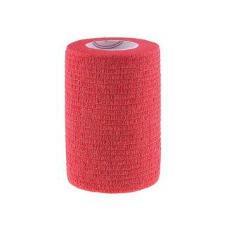 5E, bandaż kohezyjny Non-Woven Economic, lateksowy, czerwony, 7,5 cm x 4,5 m - zdjęcie produktu