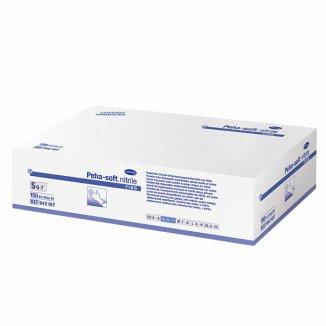 Peha-soft nitrile fino, rękawice nitrylowe, niejałowe, niepudrowane, niebieskie, rozmiar S, 150 sztuk - zdjęcie produktu