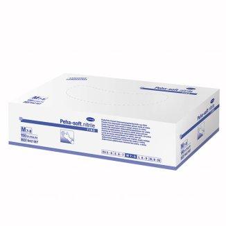 Peha-soft nitrile fino, rękawice nitrylowe, niejałowe, niepudrowane, rozmiar M, 150 sztuk - zdjęcie produktu