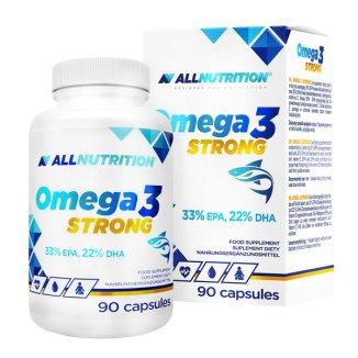 Allnutrition, Omega 3 1000 mg Strong, 90 kapsułek - zdjęcie produktu