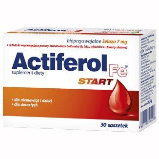 Actiferol Fe Start dla niemowląt, dzieci i dorosłych, 30 saszetek - zdjęcie produktu