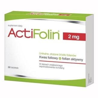ActiFolin 2 mg, kwas foliowy 2000 µg, 30 tabletek - zdjęcie produktu
