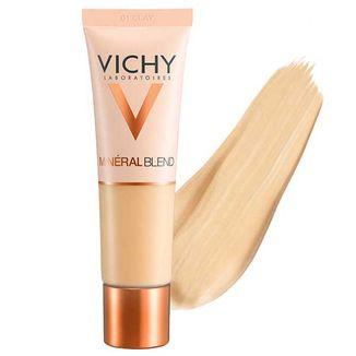 Vichy Mineralblend, podkład nawilżający, nr 01 Clay, 30 ml - zdjęcie produktu