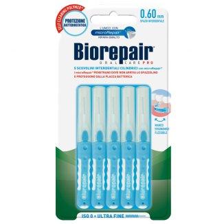 BioRepair, szczoteczki międzyzębowe 0,60 mm, cylindryczne, ultracienkie, 5 sztuk - zdjęcie produktu