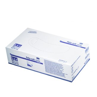 Peha-soft nitrile fino, rękawice nitrylowe, niejałowe, niepudrowane, rozmiar L, 150 sztuk - zdjęcie produktu