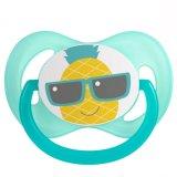 Canpol, smoczek silikonowy, symetryczny, So Cool, 0-6 miesiąca, ananas, 1 sztuka - miniaturka zdjęcia produktu
