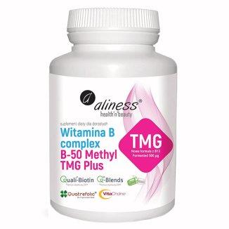 Aliness Witamina B Complex B-50 Methyl TMG Plus, 100 kapsułek - zdjęcie produktu