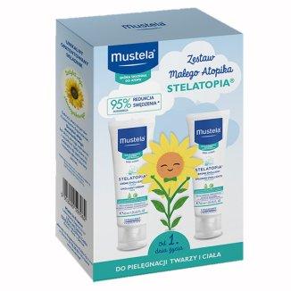 Mustela, Zestaw startowy dla noworodka, balsam emolientowy, 40 ml + krem emolientowy do twarzy, 40 ml - zdjęcie produktu