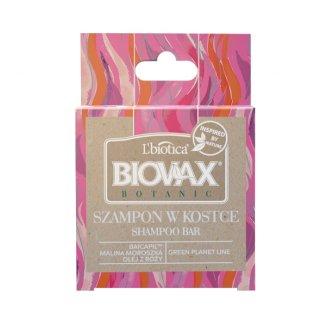 Biovax, szampon w kostce, malina, róża i baicapil, 82 g - zdjęcie produktu