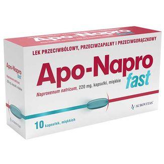 Apo-Napro Fast 220 mg, 10 kapsułek miękkich - zdjęcie produktu