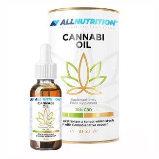 Allnutrition Cannabi Oil 10% CBD, olej z ekstraktem z konopi włóknistych, krople, 10 ml - zdjęcie produktu