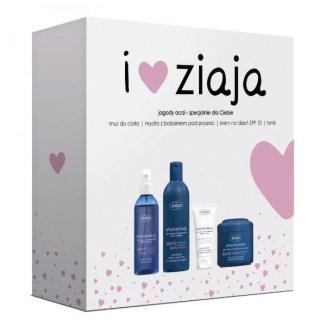 Zestaw Ziaja Jagody Acai, mus do ciała, 200 ml + mydło nawilżające, 300 ml + krem odżywczo-regenerujący, 50 ml + tonik, 200 ml - zdjęcie produktu