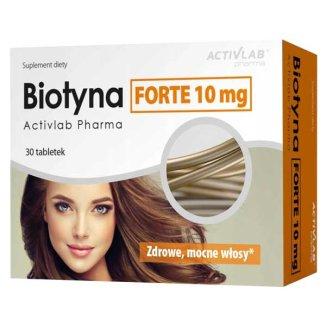 Activlab Pharma Biotyna Forte 10 mg, 30 tabletek - zdjęcie produktu