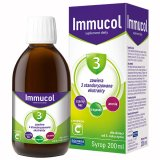 Immucol z tragankiem, syrop dla dzieci od 3. roku życia, 200 ml - miniaturka zdjęcia produktu